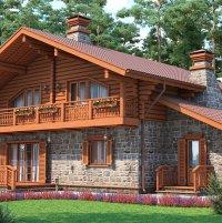 Комбинированные дома — сочетание различных строительных материалов при строительстве
