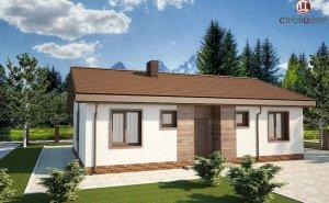 Одноэтажный дом с крытой террасой на земельном участке 6,26 соток