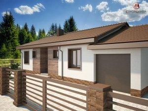 С-2 Одноэтажный дом с крытой террасой и гаражом на земельном участке 5,18 соток